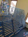 Blue Wire Book Rack Measuring 54 X 23 X 25.5 (SOLD 4X'S THE MONEY)