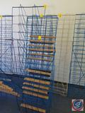 Blue Wire Book Rack Measuring 55 X 25, (2) Blue Wire Book Racks Measuring 53 X 26 and White Book