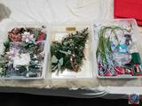 Hallmark Keepsakes, Picks, Stems, Swags, Poinsettia Arrangement in Tote (3 Totes)