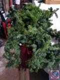 Approx 100 ft of Lighted Garland {{In Working Condition, Tested by Auction Solutions Staff}} in