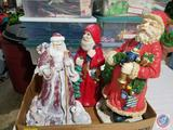 Three Santas Approx. 1 ft. Tall (One is Musical)