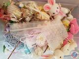 Vintage Easter Lighting, Vintage Easter Ornaments, Bunny and Mice Assorted Egg Decorations, Brandeis