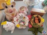 Rose Ceramic Wall Hanging, Chadwick Mini Pitchers, Floral Candy Dish, Rabbit and Tulip Planter, Fox