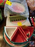 Watermelon Platter, 3 Watermelon Plates, Watermelon Box, (3) Watermelon Mugs and More