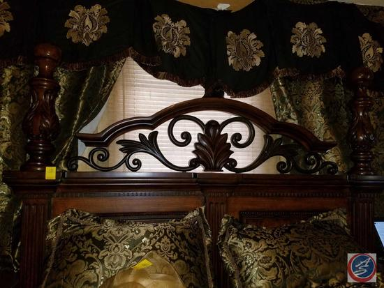 Full Sized Bed Frame, Head Board, Foot Board, Two Mattresses and Bedding {{CONTENTS OF BED SOLD
