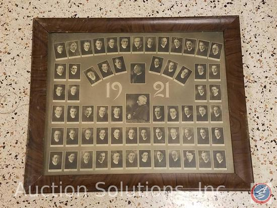 [10] Assorted Antique Framed Portraits of Various Sizes Including Portrait of Msgr. Vitus Stoll