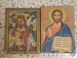 [13] Vintage Religious Prints Some with Wood Frames Including Sacred Heart of Jesus, Mater Dolorosa,