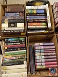 Vintage Books with titles such as: The Santa Fe Trail, Edith and Woodrow, Theodore Rex, Salvation,