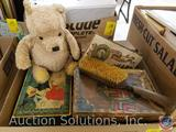 Classic Pooh Bear, Vintage Wooden Hairbrush, [3] Cigar Boxes One with Nazi Print, One with Tobey +
