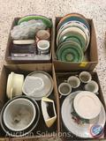 Plates, Bowls, Cupcake Carrier, Christmas Themed Cups and Plates and More