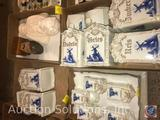 Set of German Rice, Flour, Sugar, Coffee Containers