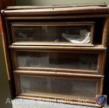 Vintage Macey?Barrister Bookcase Marked 98 and 9/10 Finish 2 {{ONE CABINET DOOR IS BROKEN OFF}}