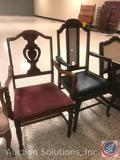 (2) Vintage Chairs Measuring: One chair is 38