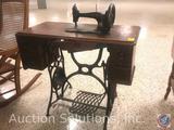 C.W. Williams Montreal MFG CO (C.W.W.C)Treadle Sewing Machine In Cabinet Measuring: 34.5