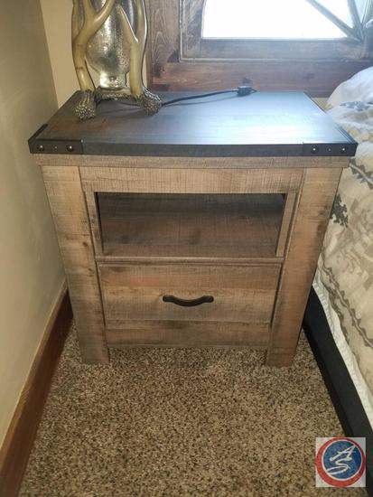 "5-Drawer Tall Boy Stand Up Dresser 34 1/2"" x 16"" x 54"" , (2) Single-Drawer Night Stands 24 1/2"" x"