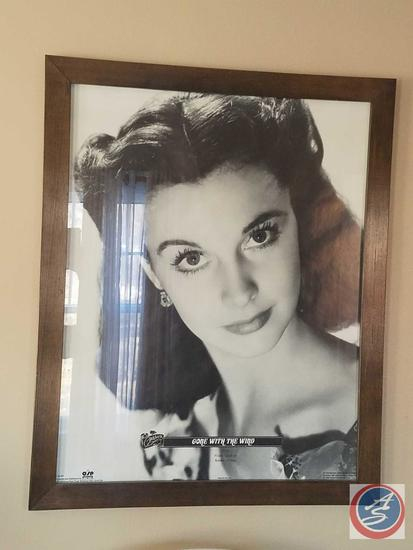 "Framed Vivian Lee Movie Poster 24 3/4"" x 30 3/4"", Theater and General Audience Sign"