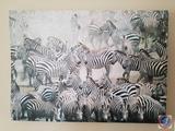 Zebra Canvas Oil Panting 27 1/2