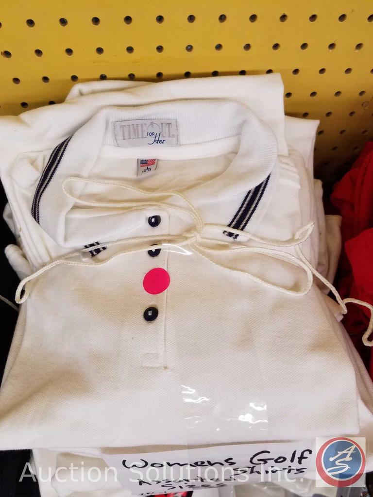 (11) Women's White Golf Shirts in Assorted Sizes