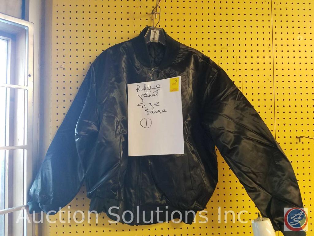 Nemsis Black Nylon and Polyester Referee Jacket Size L