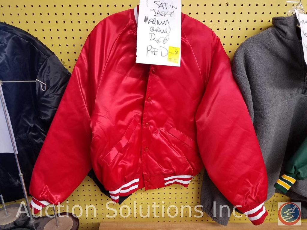 King Louie Red Satin Jacket Size M