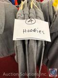 (4) Adult Grey Hoodies in Assorted Sizes