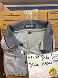Polo Shirt in Assorted Colors and Sizes Approx. 25-30