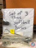 Set of 3 Softball Bases with Anchors