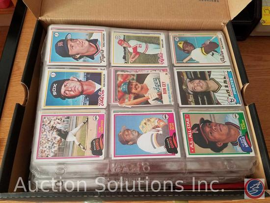Collectible Sports Trading Cards - some in Protective Sleeves [[ALL IN SHOE BOX]]