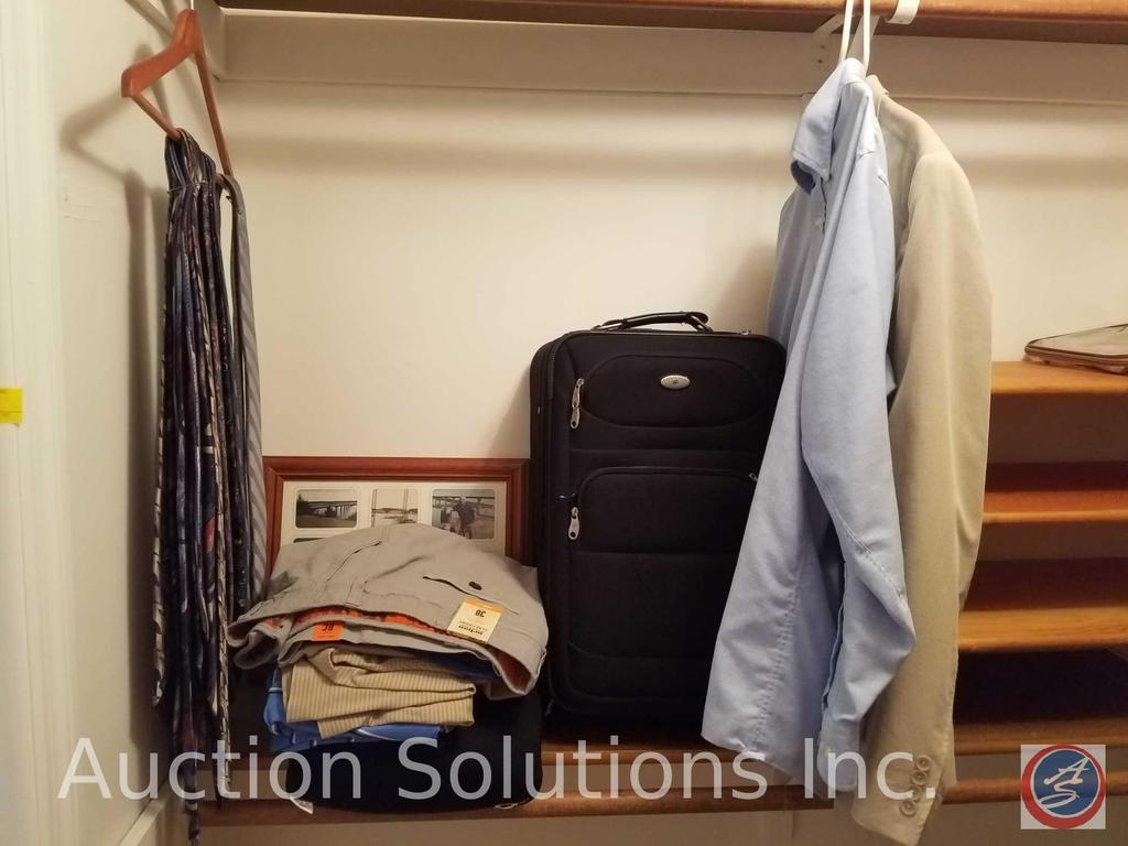 Neck Ties in Assorted Styles and Brands, Men's J. Ferrar Suit Coat Size XL 46-48, Picture Frame