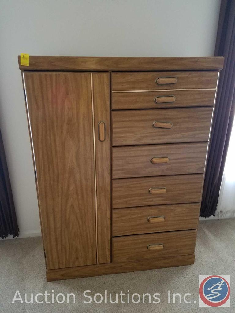 "6-Drawer Wardrobe Dresser Measuring 40""X 16""X 53"""