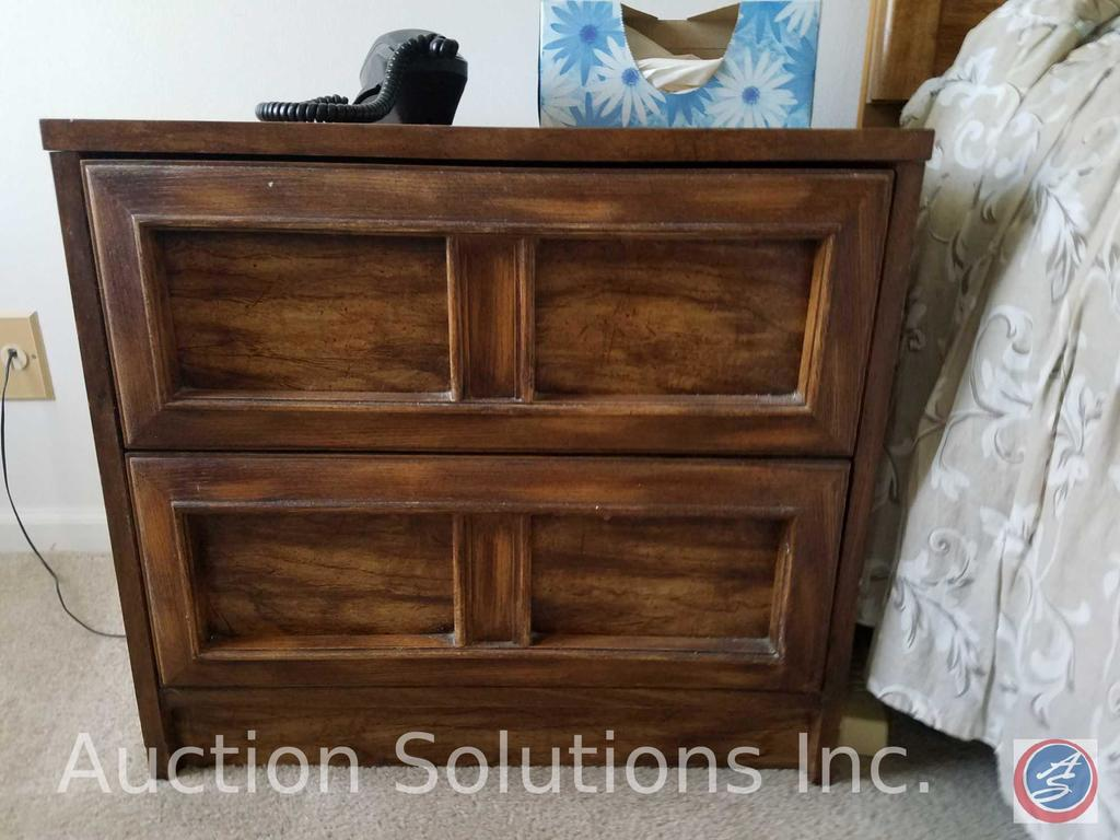 "(2) 2 Drawer Night Stands Measuring 24""X 16""X 21"""