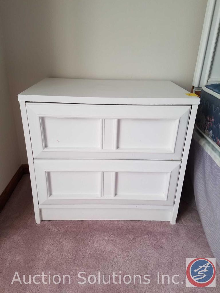 """(2) White 2-Drawer Night Stands Measuring 23.5""""X 16""""X 22"""""""