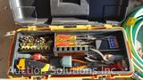 Tool Box Including Crescent Wrench, Screw Driver, Hammer, Needle Nose Pliers and More, Garden Hose,