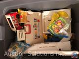 Vintage Fisher Price Alpha Probe Spaceship, Little People Cottage with Original Style Little People,