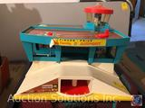 Vintage Battle Ship, Fisher Price Play Family Airport, Nickelodeon TMNT Lunch Box with Puzzle Pieces
