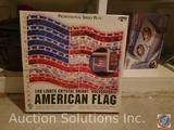 Professional Series Plus Holographic American Flag Lighted Display, Holmes Air Heater (Model