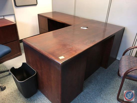 """Hon L Shaped Desk Measuring 65"""" x 29"""" x 30"""" and 78"""" x 23"""" x 30"""" {{DESK ONLY}}"""