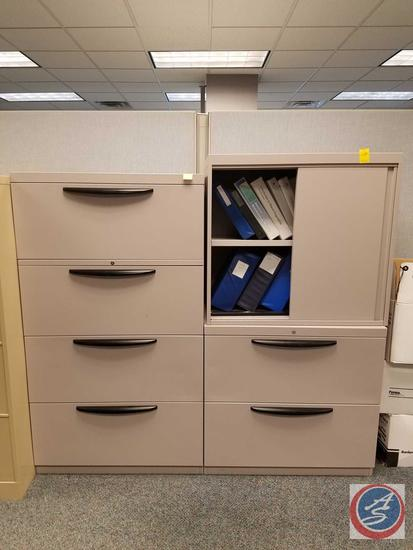 """4 Drawer Metal Lateral File Cabinet no/key Measuring: 30""""x19""""x53"""", 2 Piece Metal Lateral File"""