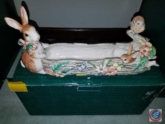 Fitz and Floyd Woodland Spring Cracker Cradle {{With Original Box}}