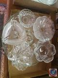 Cake Platter, (3) Candy Dishes,