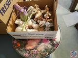 Dept. 56 Bunnies, Golden Crown Italy Flower, Fitz and Floyd Bunnies