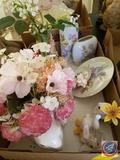Fitz and Floyd Essentials Bunny Blooms, Napcoware Bunny Flower Basket