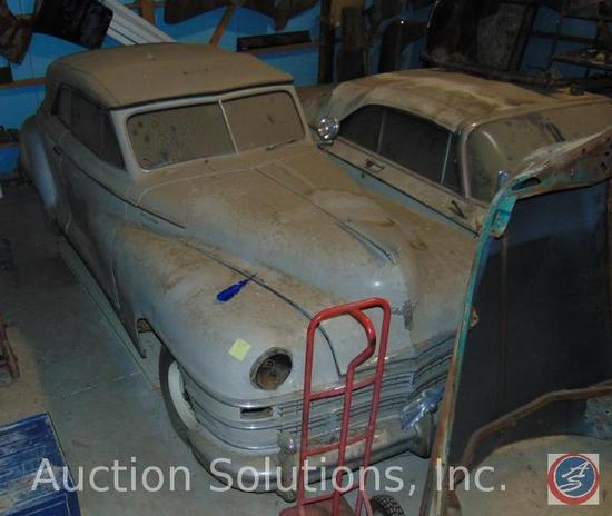 1948 Chrysler Windsor 2-Door Convertible Project. This car is solid with minimal rust. The original