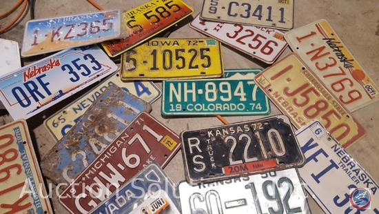 Approx. 40+ Antique and Vintage License Plates from Various States