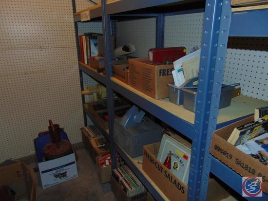 Large Lot of Misc. Non-Auto Related Items Including: Glass Merchandiser Display Case; Vintage Glass