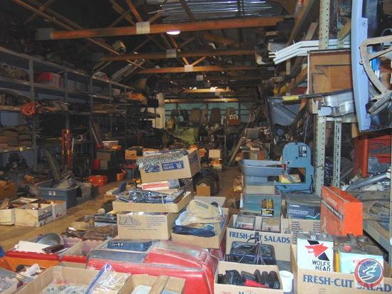 This lot contains a huge collection [5000 sq. ft.] of vintage automobile parts. This lot is sold for