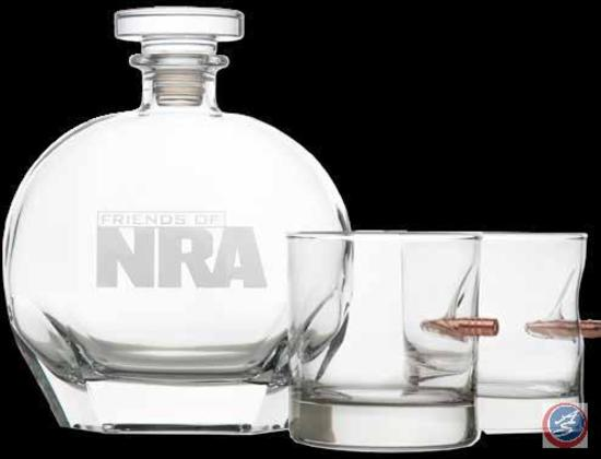 NRA Etched Decanter & Rocks Glass Set