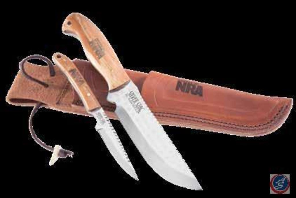 NRA Hunting Guide Combo Cutlery w/ Silver Stag Guide Knife