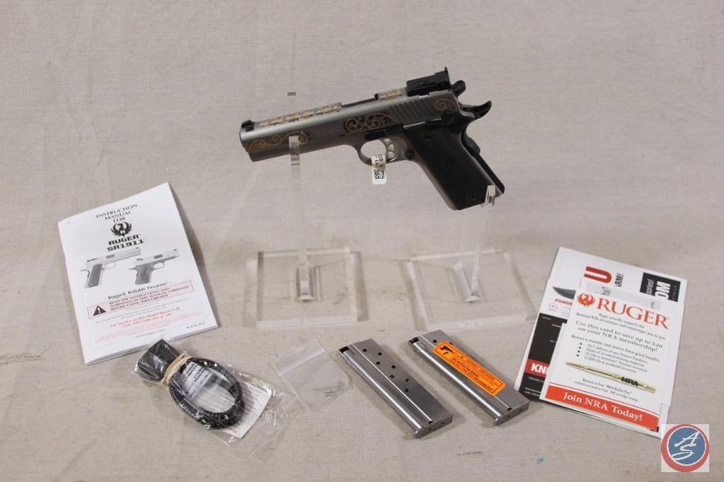NRA Custom Engraved Ruger SR1911 10MM S/N 673-29586