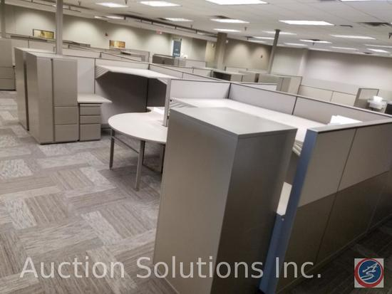 "26 Section of Partitions Measuring: 49 1/2"" x 57"", 8 Sections of Partitions Measuring 24 1/2"" 57, 12"